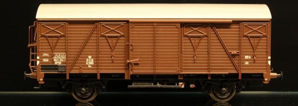 DSB Gs 41985 Mørkebrun med sølvfarvet tag