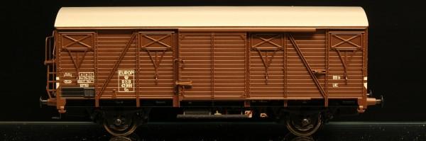 DSB Gs 42000 Brun med sølvfarvet tag EUROP-mærket