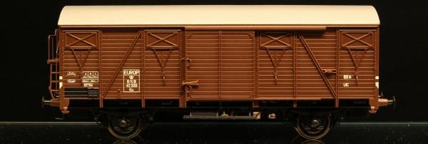 DSB Gs 42335 Brun med sølvfarvet tag EUROP-mærket